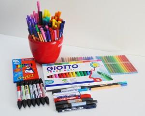 Маркеры, фломастеры, ручки